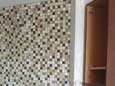 Granite wall tiles installed by TLC Tile Pros Tampa