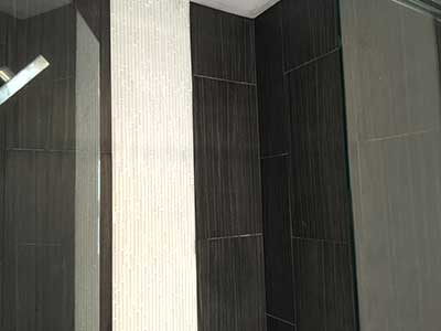 Porcelain wall bathroom tiles installed by TLC Tile Pros Tampa