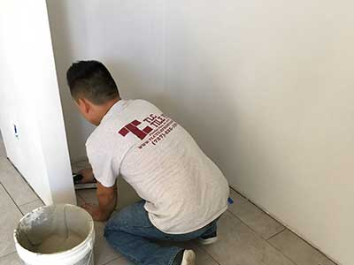 Tile installation by TLC Tile Pros Tampa