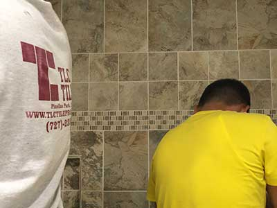 Tile repairs by TLC Tile Pros Tampa