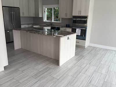 Porcelain floor tiles installed by TLC Tile Pros Tampa