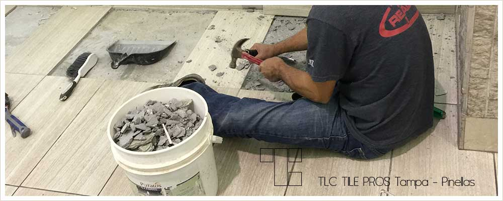 Tile removal by TLC Tile Pros Tampa